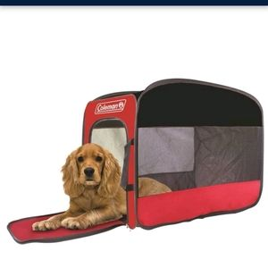 NWT Coleman pet kennel popup red kennel 18WX22.5H